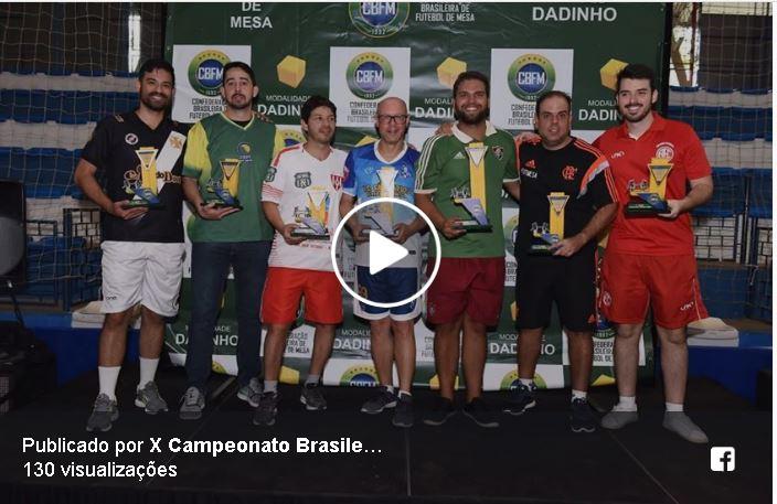 X BRASILEIRO 2017 FUTMESA DADINHO