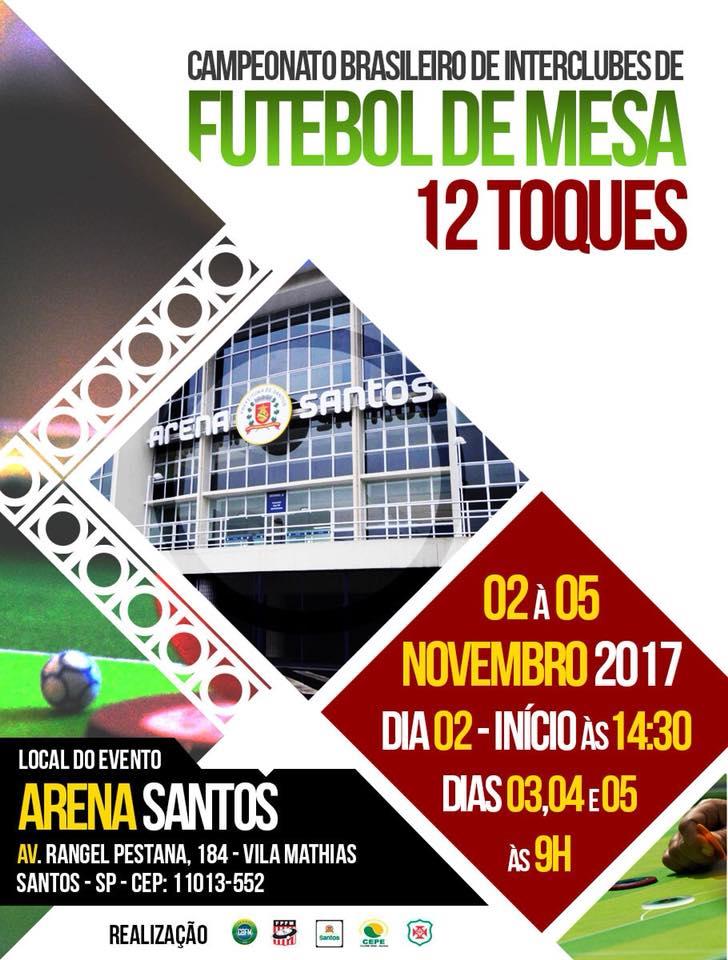 BRASILEIRO INTERCLUBES - 12 TOQUES