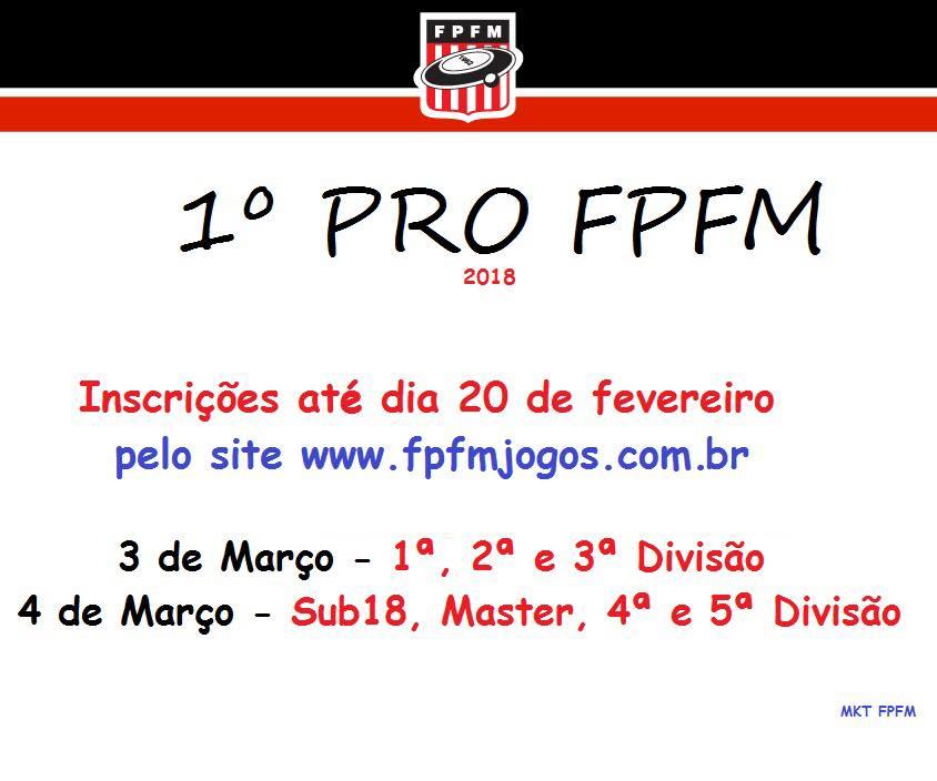 1º PRO FPFM