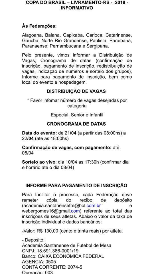 Copa do Brasil 2018 - Livramento RS
