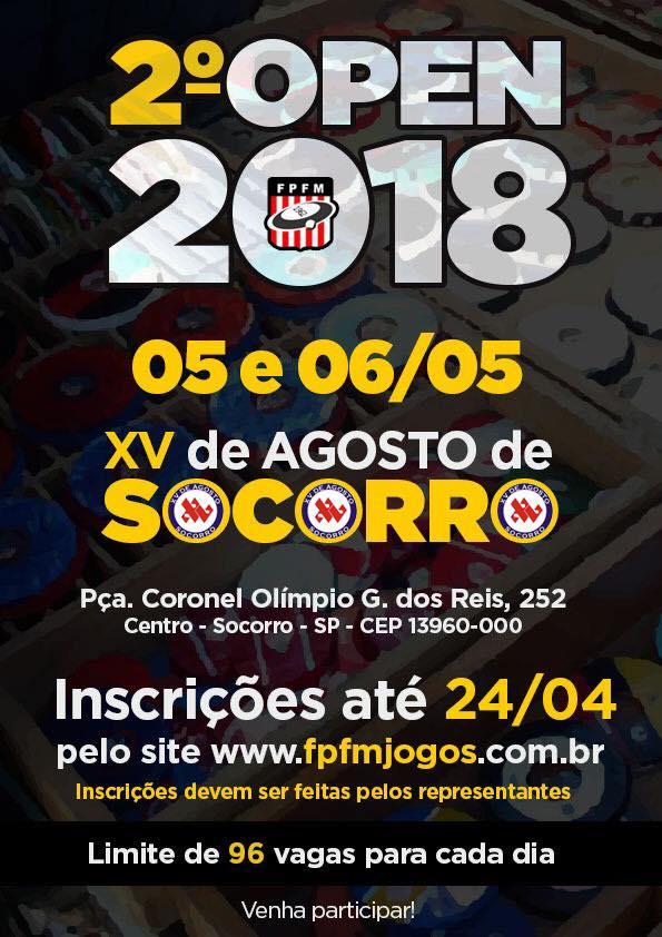 2 Open 2018 - Socorro - 05 e 06 de Maio