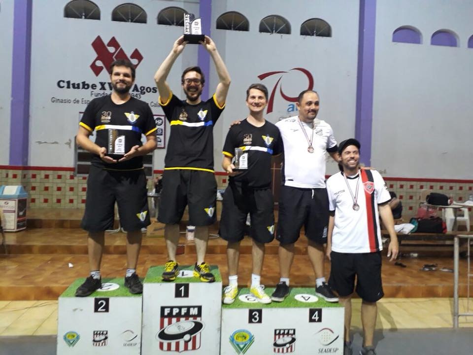2º Open 2018 - Clube XV de Agosto - Socorro SP - SÉRIES DOMINGO