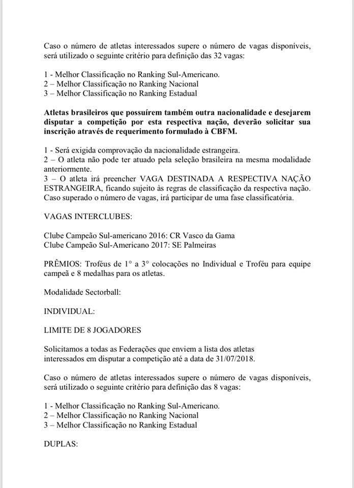Mundial de Futmesa 2018 - Carta Convite