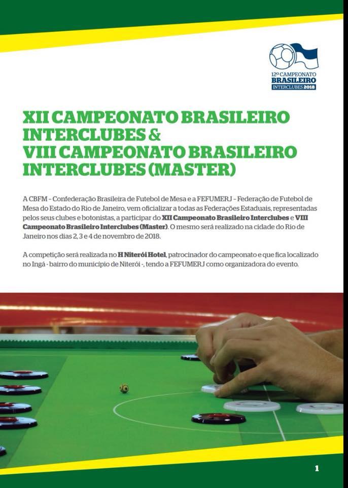 12º CAMPEONATO BRASILEIRO INTERCLUBES