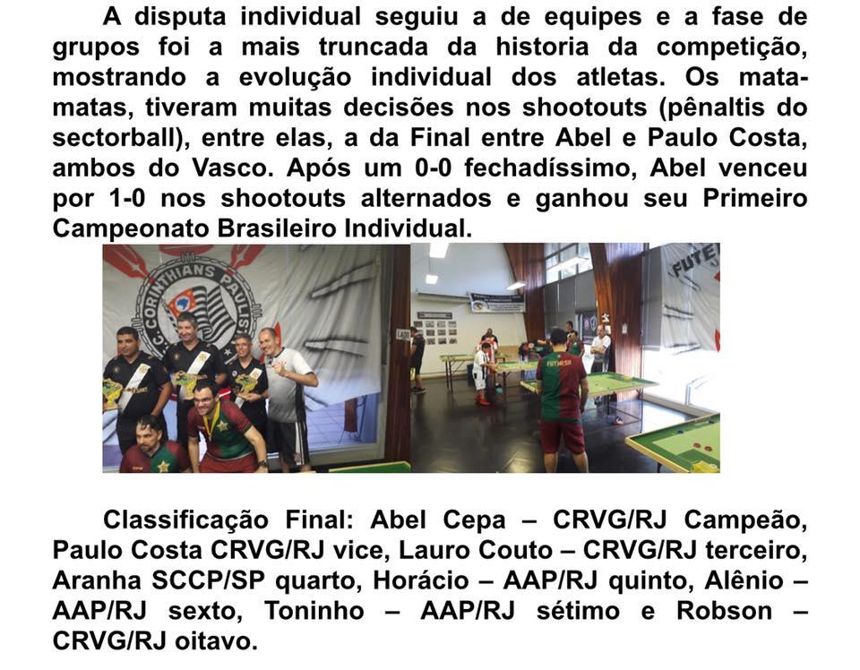 CAMPEONATO BRASILEIRO REGRAS INTERNACIONAIS